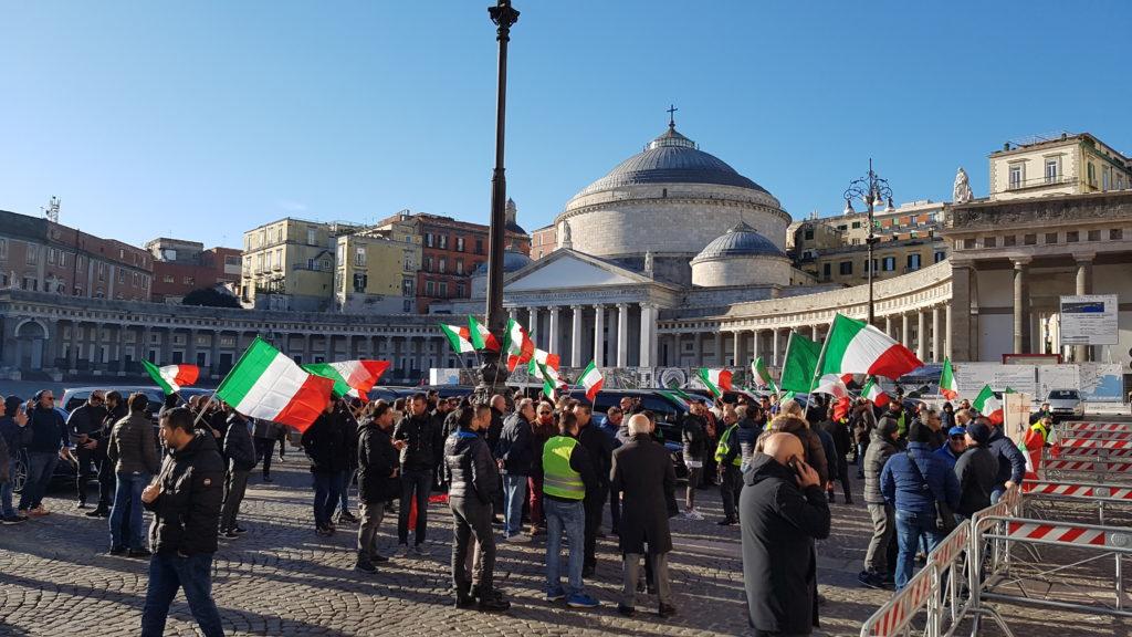 protesta ncc a napoli 12 dicembre 2018
