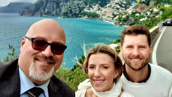 wine tour on the amalfi coast: selfie at Positano