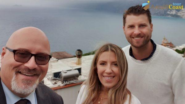 wine tour on the amalfi coast: selfie in Praiano
